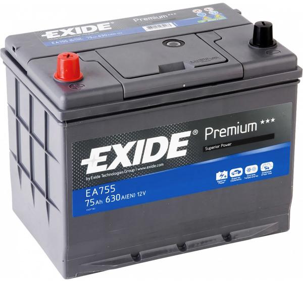 EXIDE PREMIUM 75 ა/ს EA755