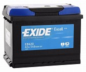 EXIDE EXCELL 62 ა/ს EB620