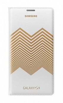 SAMSUNG GALAXY S5 FLIP COVER NICHOLAS KIRKWOOD WHITE GOLD