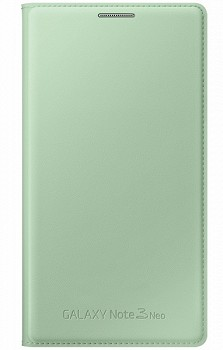SAMSUNG GALAXY NOTE 3 NEO FLIP WALLET COVER MINT-GREEN