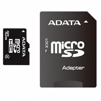 A-DATA 16GB MICROSDHC CARD (CLASS 4) 1 ADAPTER