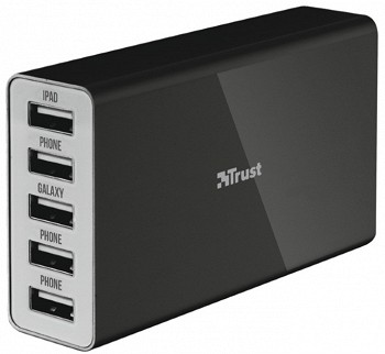 TRUST 25W WALL CHARGER WITH 5 USB PORTS (20014)