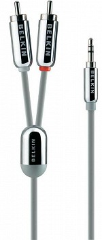 BELKIN STEREO CABLE FOR IPOD NANO 3G/ IPHONE 3G SILVER (F8Z180EA07)
