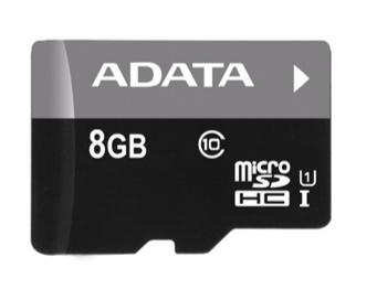 A-DATA 8 GB PREMIER MICROSDHC (AUSDH8GUICL10-RA1)