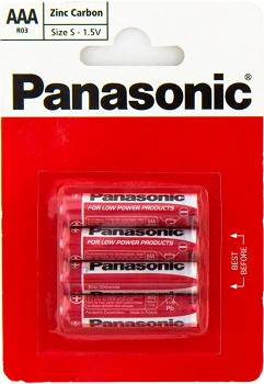 PANASONIC RED ZINK (R03REL/4BP)