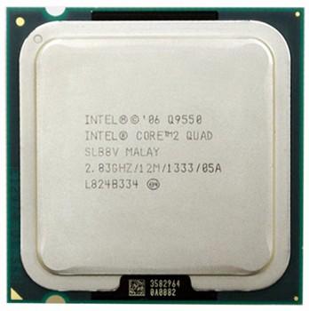 INTEL CORE 2 QUAD Q9550 (12 MB ქეშ მეხსიერება, 2.83 GHZ) TRAY