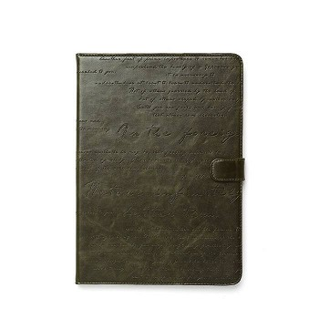 ZENUS IPAD AIR MASSTIGE LETTERING DIARY CASE DEEP KHAKI