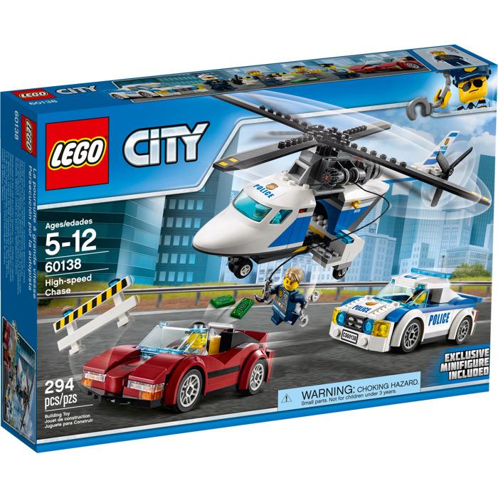 სათამაშო კონსტრუქტორი LEGO CITY HIGH-SPEED CHASE 60138