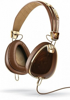 SKULLCANDY AVIATOR Brown/Gold W/MIC3 (S6AVFM-157)