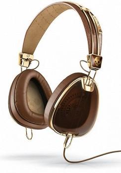 SKULLCANDY AVIATOR Brown/Gold W/MIC3 (S6AVFM-157)