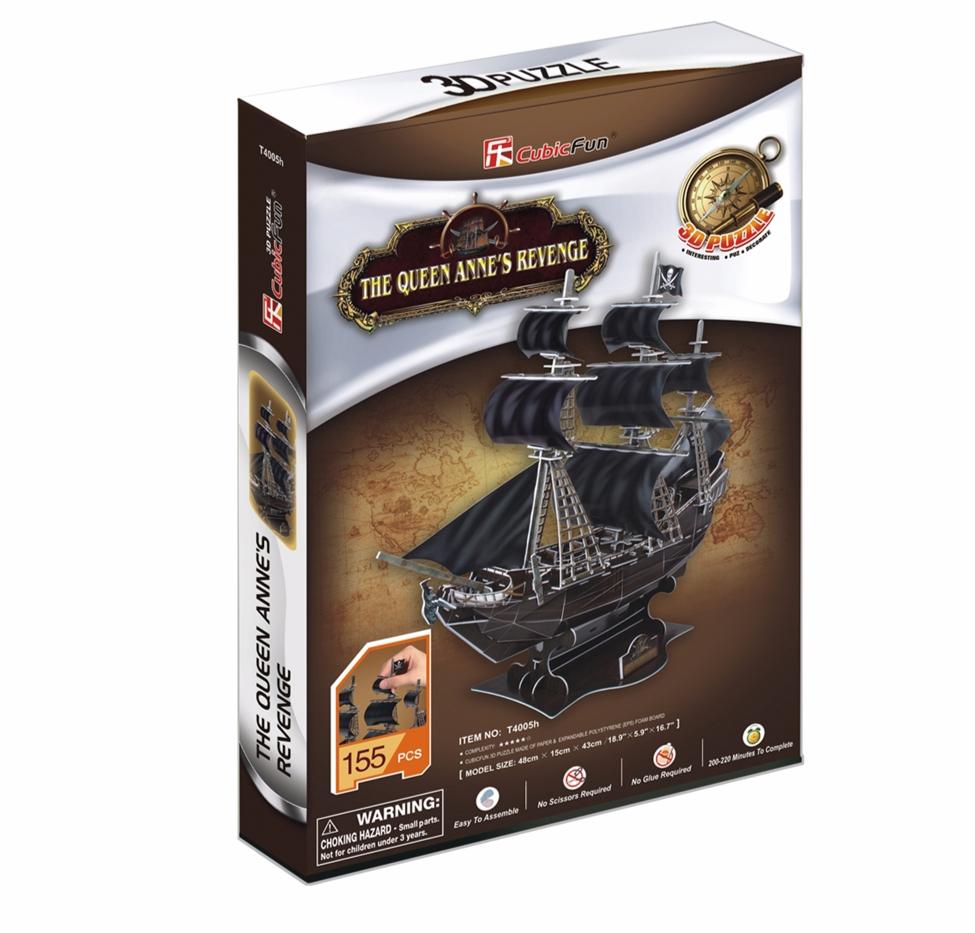სათამაშო 3D ფაზლი CUBICFUN THE QUEEN ANNES REVENGE (T4005H)