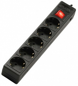 SVEN SURGE PROTECTOR/OPTIMA BASE 5 M (5 SOCKETS) BLACK