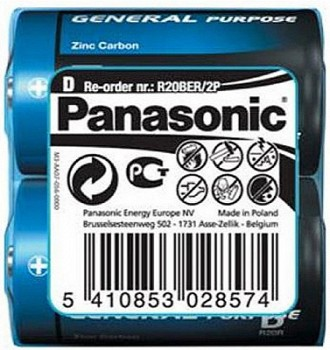 PANASONIC GENERAL PURPOSE (R20BER/2P)