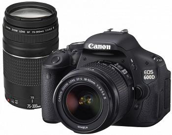 CANON EOS 600D + KIT 18-55 III + KIT 75-300 III