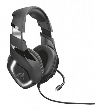 TRUST GXT 380 DOXX ILLUMINATED GAMING HEADSET (22338) BLACK