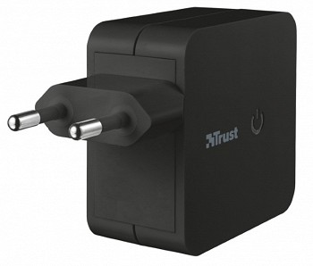 TRUST 12W WALL CHARGER WITH 2 USB PORTS (19158)