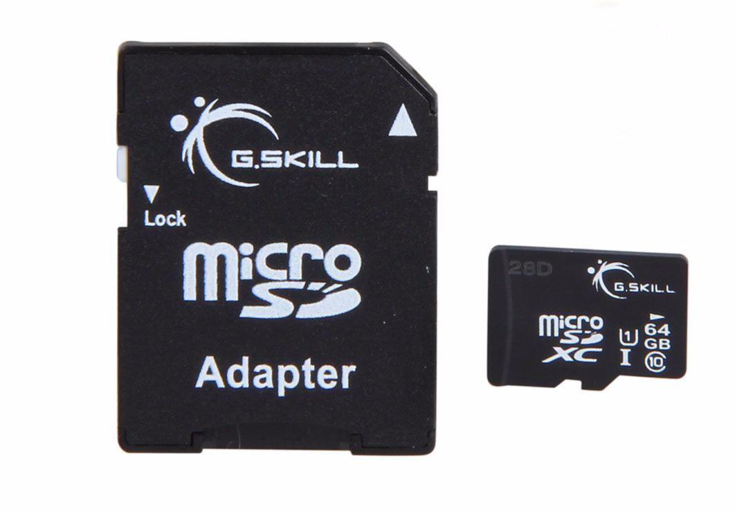 G.SKILL MICRO SDXC 64GB (FF-TSDXC64GA-U1)