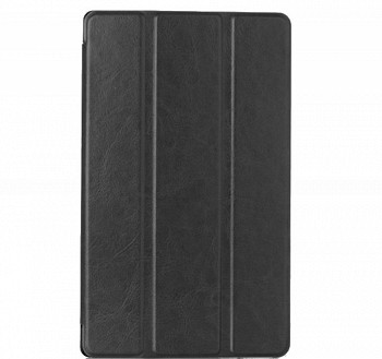 CRAZY HORSE BLACK TRI-FOLD STAND SMART LEATHER COVER CASE FOR LENOVO TAB S8-50