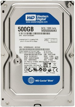 WESTERN DIGITAL WD BLUE 500GB 3.5