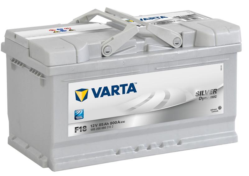 ავტომობილის აკუმულატორი VARTA SILVER 85 A/H F-18 (20300133)
