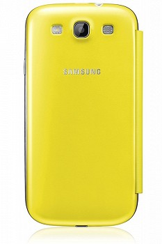 SAMSUNG GALAXY S3 FLIP COVER YELLOW