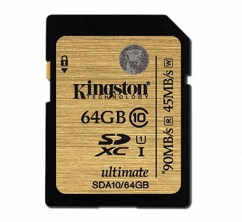 KINGSTON SDXC 64 GB CLASS 10