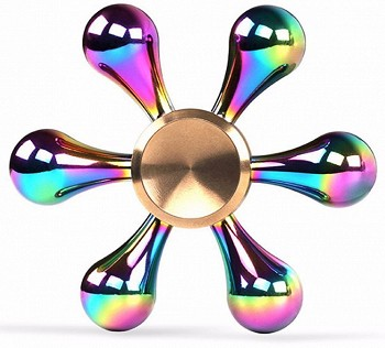 სათამაშო FIDGET SPINNER HEXAGON RAINBOW