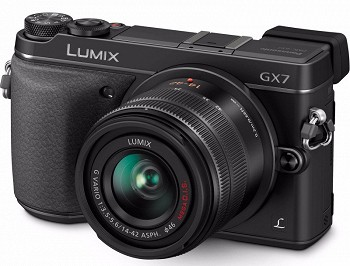 PANASONIC LUMIX DMC-GX7 KIT 14-42MM BLACK (DMC-GX7KEE-K)