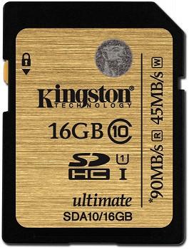 KINGSTON SDHC 16 GB CLASS 10