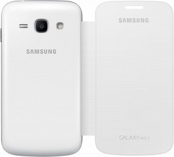 SAMSUNG GALAXY ACE 3 FLIP COVER WHITE
