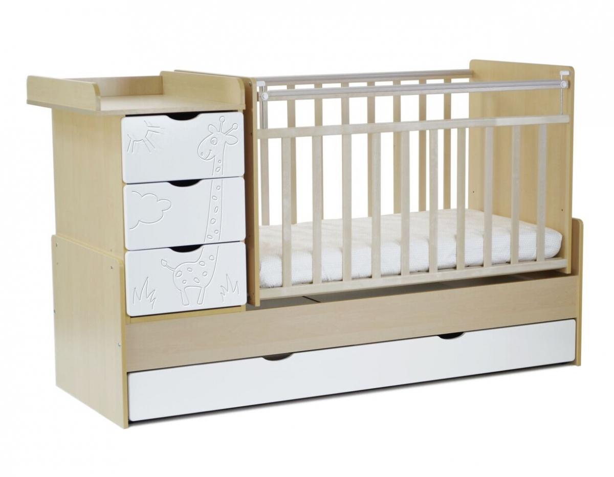 """ბავშვის საწოლი SKV COMPANY """"ჟირაფი"""" (4680003275047)"""