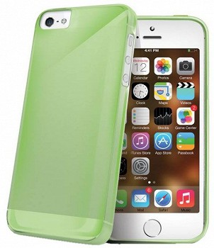 CELLY TPU CASE FOR APPLE IPHONE 5S GREEN